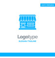 shop online market store building blue solid logo vector image vector image