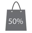 shopping bag with the sale 50 percent discount vector image vector image