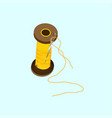 spool of yellow thread vector image