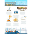 storage service or maintenance infographic banner vector image vector image
