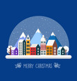 urban village christmas decorated vector image vector image