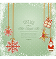 vintage christmas vector image vector image