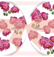 Vintage Watercolor Orchid Flowers Card vector image vector image