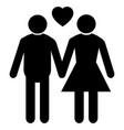 wedding married black couple vector image vector image