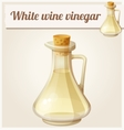 White wine vinegar Detailed Icon vector image vector image