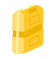 yellow tool box in flat style construction vector image