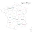 Contour France map vector image