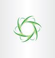 green quantum atom biology icon vector image