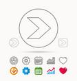 next arrow icon forward sign vector image