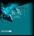 background green grunge geometric vector image
