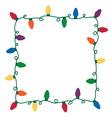 Christmas lights border vector image