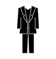 suit icon sign on isolate vector image