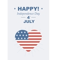 Funny card Happy 4th of July vector image