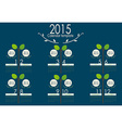 2015 calendar vector image