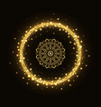 abstract gold circle frame with mandala vector image