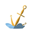 anchor maritime nautical sea shadow vector image vector image