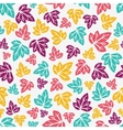 Autumn leaves pattern Hand-drawn seamless pattern vector image vector image