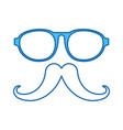 blue icon vintage face vector image vector image