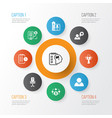 business management icons set with self vector image vector image
