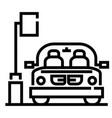 car park line vector image