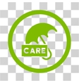 Care Umbrella Flat Rounded Icon vector image