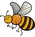 cartoon of funny bee vector image vector image