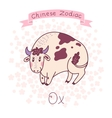 Chinese Zodiac - Ox vector image