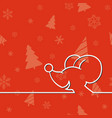 christmas card with cartoon mouse vector image vector image