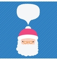 Christmas Santa Claus with bubble speech vector image