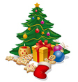 christmass tree vector image