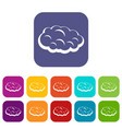 cloud icons set flat vector image vector image