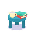 coffee table flat vector image vector image