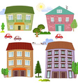 Collection of cute houses vector image