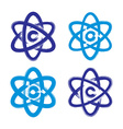 Collection of hand-painted simple molecule model vector image vector image