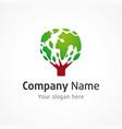 company globe logo green vector image