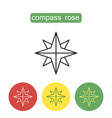 compass rose outline icons set vector image