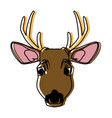 cute reindeer cartoon vector image vector image