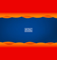 dark blue layer background orange waves with vector image vector image