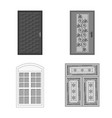 design door and front symbol collection vector image vector image