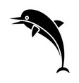 dolphin icon black sign on vector image vector image