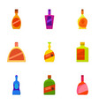 expensive bottle icons set cartoon style vector image vector image