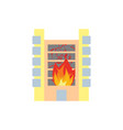 fire in building flames from office windows arson vector image