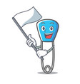 flag safety pin mascot cartoon vector image