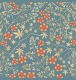 floral seamless pattern flower decorative tile ba vector image
