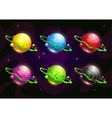 Funny colorful fantasy planets set vector image vector image
