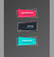 geometric modern graphic elements set graphic vector image vector image