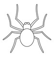 grass spider icon outline style vector image