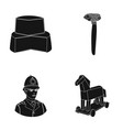 history products and or web icon in black style vector image vector image