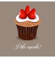 I Like Strawberry Cupcake vector image vector image