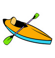 kayak icon icon cartoon vector image vector image